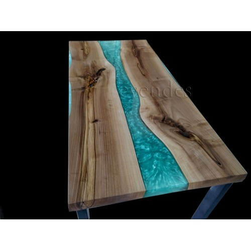 River table, decor, live edge, walnut wood, office desk, epoxy table