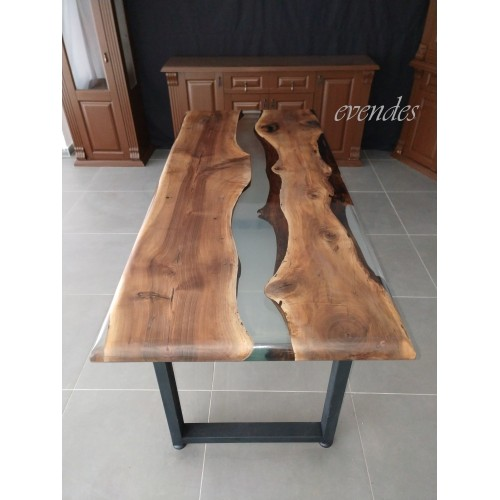 Epoxy river table, decor office desk, epoxy table