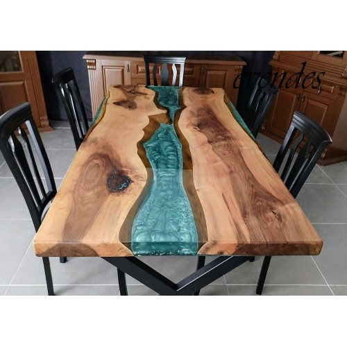 Epoxy table, epoxy resin table, dining room, office, decor table, epoxy resin dining room table