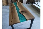 River table, office desk, decor, live edge, epoxy dining table