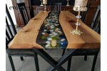 Live edge table, decor, office desk, river table, kitchen, epoxy table