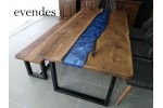 Epoxy dining table, office desk, river table, decor, live edge table
