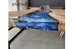 River table, office desk, live edge table, decor, epoxy table