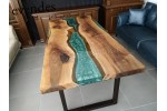 Epoxy table, office desk, decor, river dining table, live edge table, epoxidharz tisch, esstisch