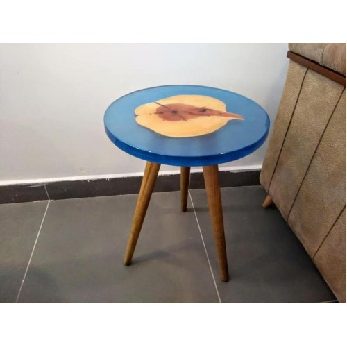 Epoxy coffee table, epoxy resin natural tree table, side table, unique table, kitchen, living room, office, decor table