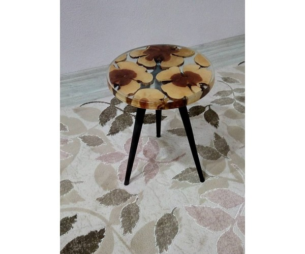 Epoxy coffee table, epoxy resin natural tree table, coffee table, unique table, kitchen, living room, office table