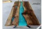 Epoxy table, epoxy resin table, dining room, office, decor table