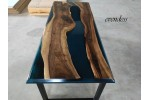 Epoxy table, epoxy dinner table, decor, office, dining room tables