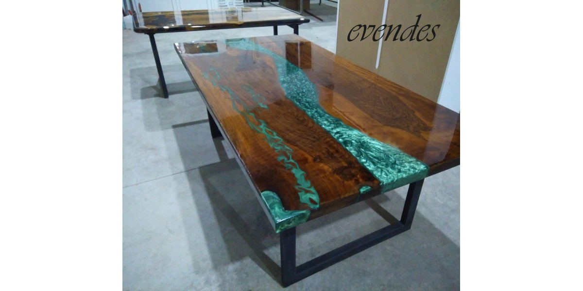 River Table Walnut Wood Dining Room Office Desk Kitchen Table Decor Epoxy Dining Table