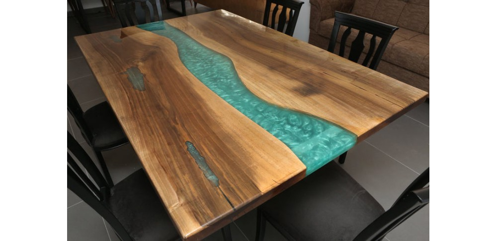River table, walnut wood, decor, dining room, office desk, epoxy dining table