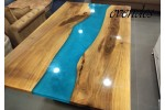 Epoxy table, vivid edge table, epoxy resin table, dining table, office, decor, garden, river table