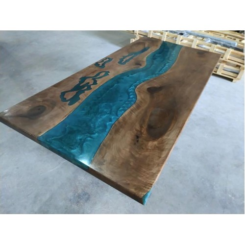 Epoxy resin table, river table