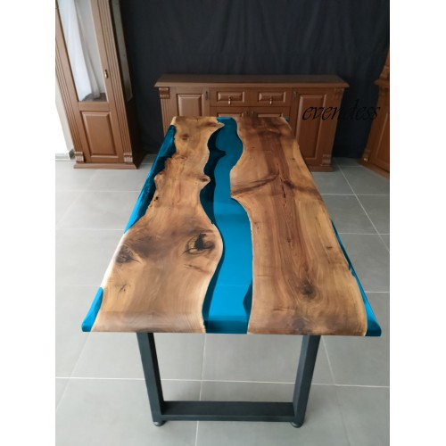 River table, decor, balcony, epoxy dinner table, office desk