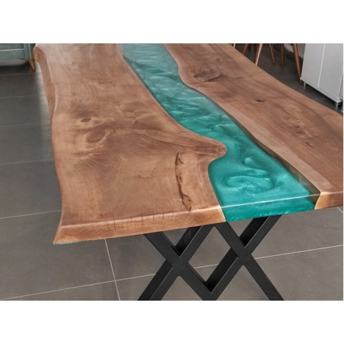 Live edge table, walnut wood, decor, river table, handmade, special production, epoxy table kitchen, luxury furniture